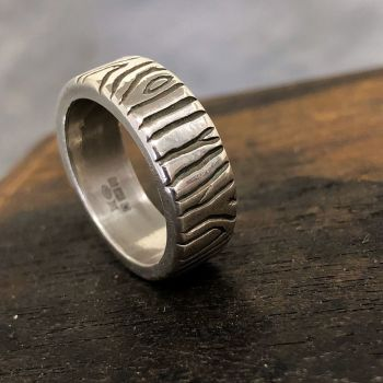 Organic Textured Ring - One of a kind