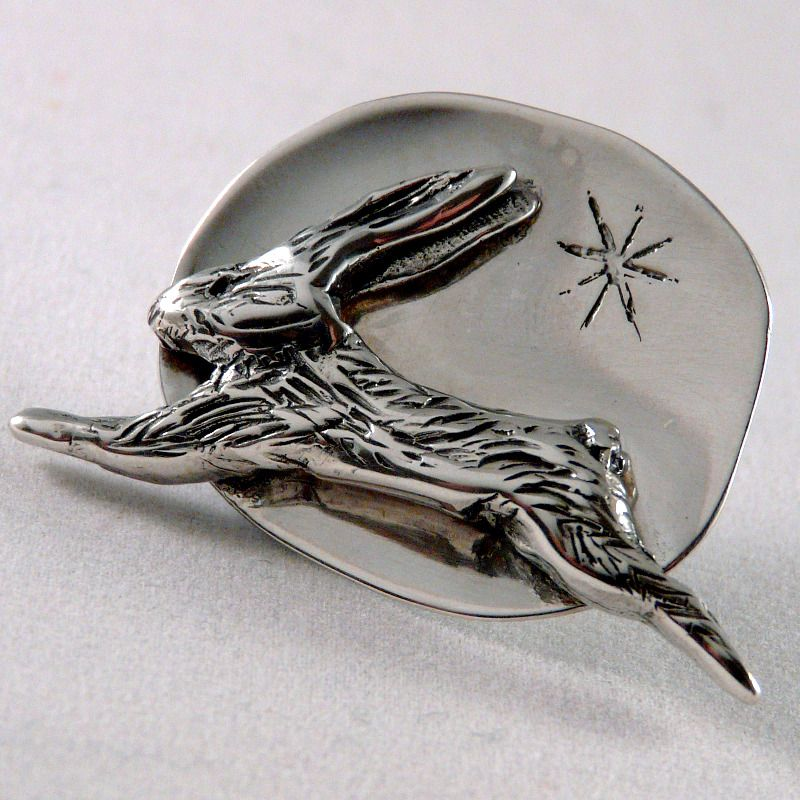 Hare & Star Solid Silver Lost Wax Pendant