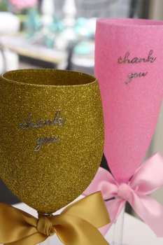 """Thank You"" Glass"