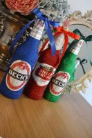 Glittery Large Bottle of Budweiser, Stella Artois, Kronenbourg or Becks