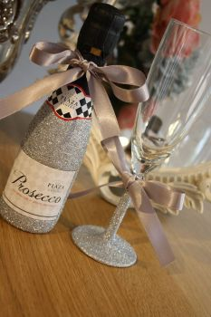 Glittery Mini Wine and Glass Gift Pack