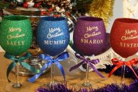 Personalised Luxury Large Merry Christmas Glass