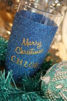 Personalised Merry Christmas Glitter Ball Glass