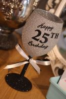 "Full On Glitz ""Happy Birthday"" Standard Wine Glass"