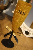 "Full On Glitz ""Name It"" Champagne Flute"