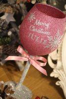 Snowflake Full On Glitz Luxury Large Personalised Glass