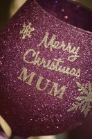 "Snowflake Luxury Large Personalised ""Merry Christmas"" Glass"