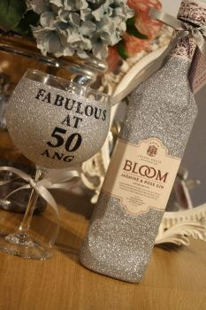Personalised Glittered Gin Balloon with Your Choice of Gin
