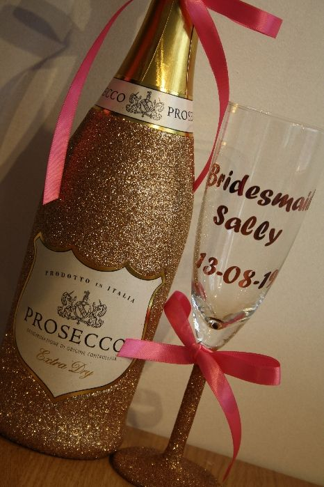 Glitter and More Glass with Optional Bottle