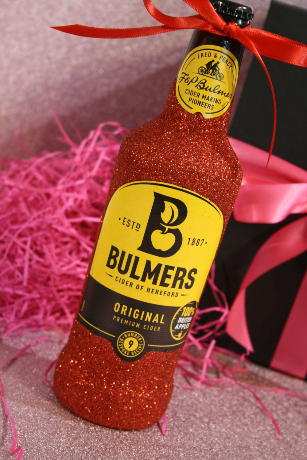 Glittery Large Bottle of Thatchers or Bulmers Cider