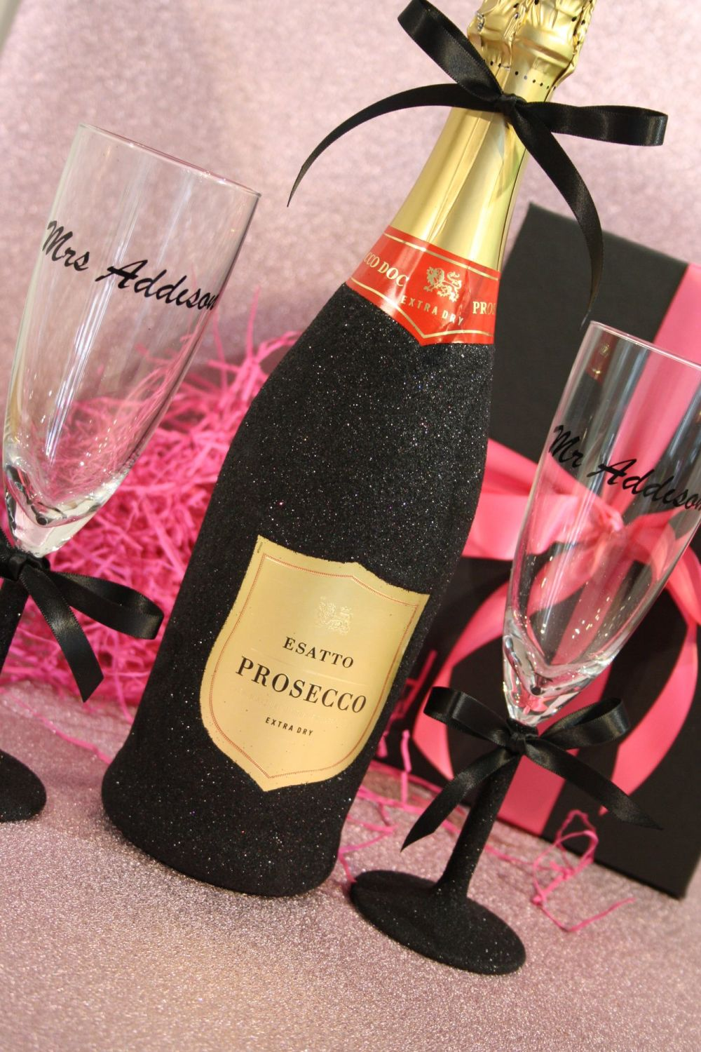 Two Glitter and More Glass with Optional Bottle
