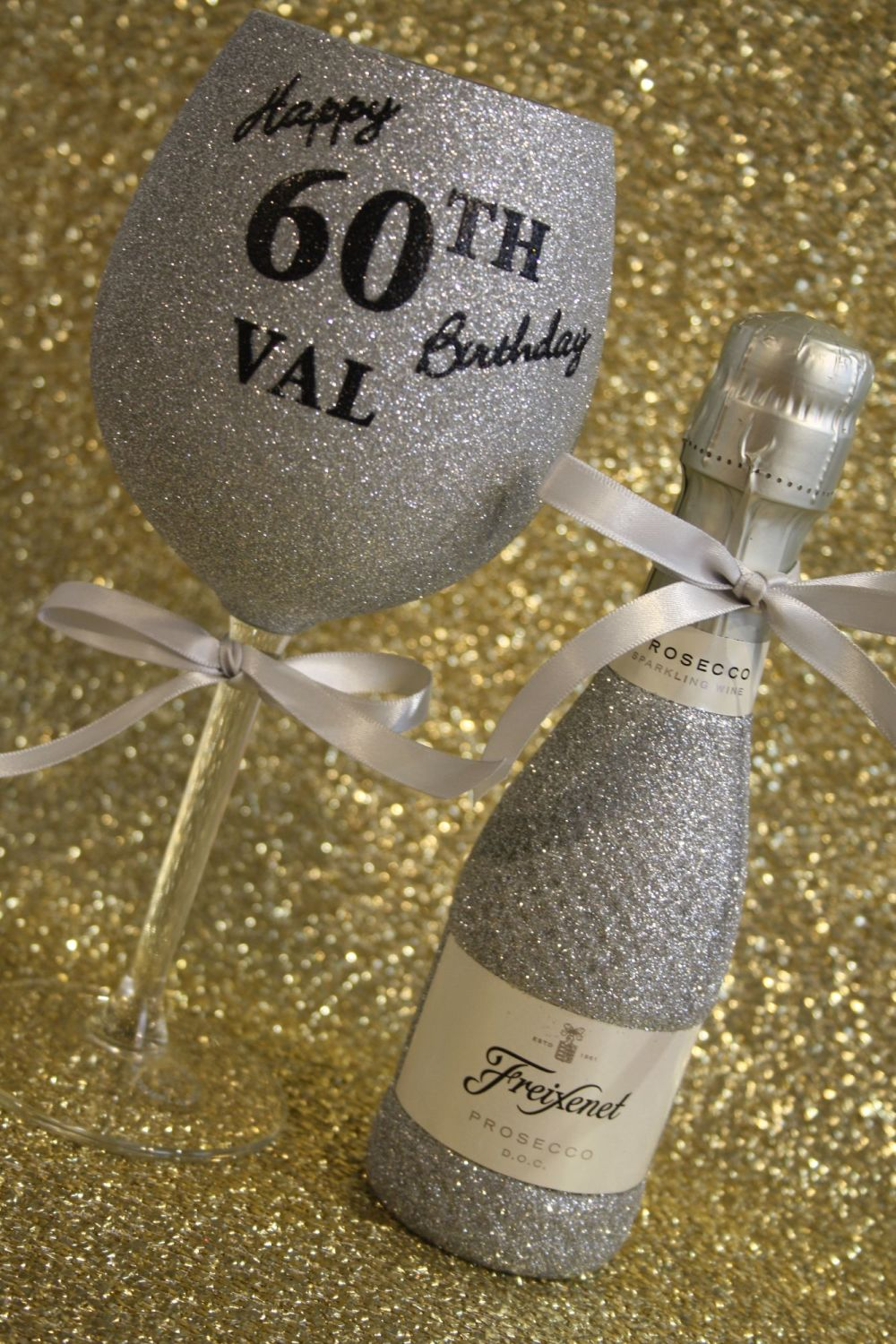 Personalised MINI Wine, Prosecco or Cava and Glass Gift Pack