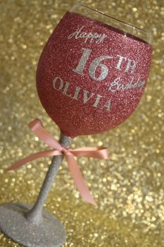 B: Full On Glitz Personalised Luxury Large Wine Glass