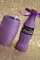 Glittered Coca Cola with Glitter Ball Glass
