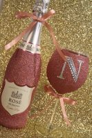 Diamante Dazzler with Bottle of Booze Gift Pack