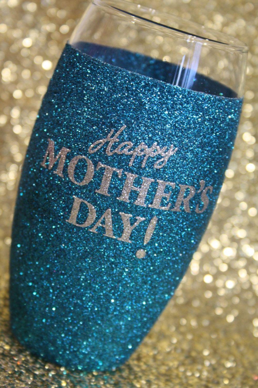 Personalised Glitter Ball Glass