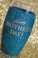 Personalised Glitter Ball Glass