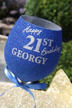 Personalised Two-Tone Luxury Large Wine Glasses