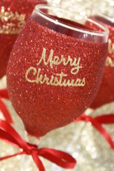 Merry Christmas Standard Wine Glass