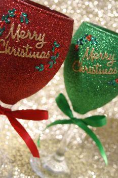 "Classic ""Merry Christmas"" Glass"