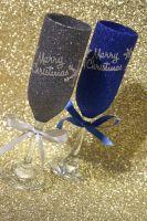 """Snowflake """"Merry Christmas"""" Glass"""
