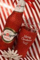 Merry Christmas Blinging Beer or Cider Set