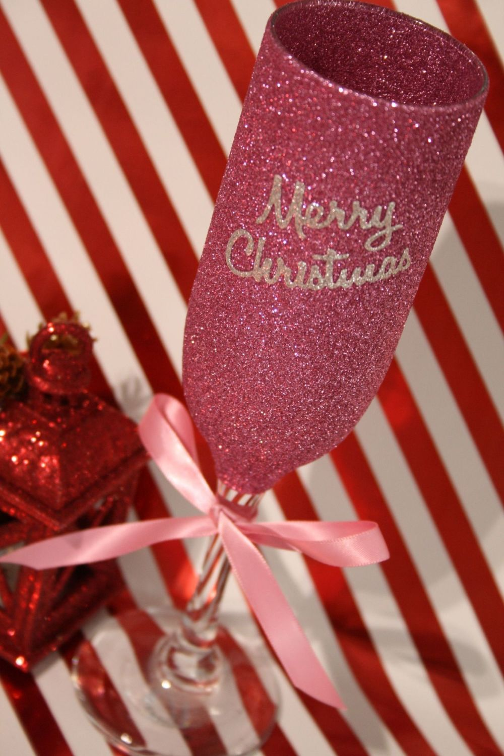 Merry Christmas Champagne Flute