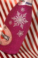 """Snowflake """"Merry Christmas"""" Bottle of Wine or Bubbles"""