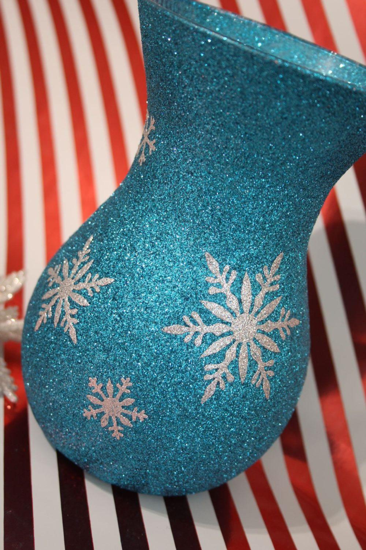 Christmas Snowflake Vase