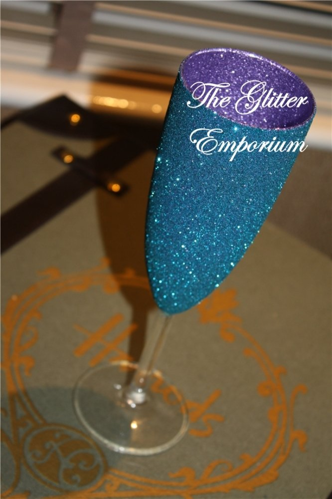 Two-Tone Champagne Flutes