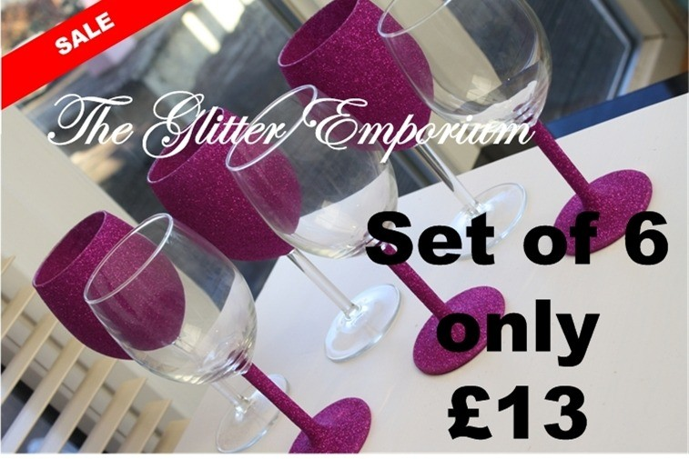 standard wine glasses 3 and 3 hot pink