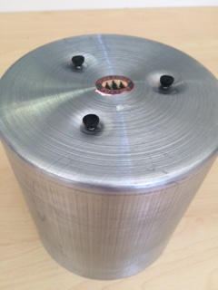 Seamless Aluminium Round Triple Wick Pillar Candle Mould 6 x 6