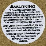 900 x Candle Safety Warning Labels for Wax Melts *DISCONTINUED*