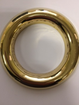 Large Brass Lamp Rings x 10