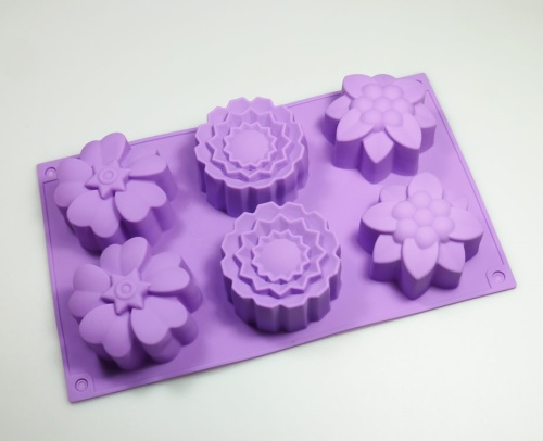 Large Mixed Flowers Silicone Mould