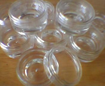 Clear Lip Balm Pots (White Lid) 6ml x 10