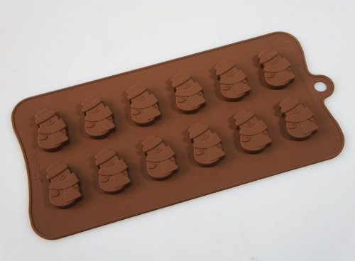 Snowman Silicone Mould 12 cavity