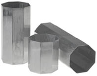 Seamless Aluminium Octagonal Pillar Candle Mould 3 x 3.5