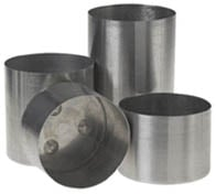 Seamless Aluminium Round Pillar Candle Mould 3 x 4.5 *DISCONTINUED*