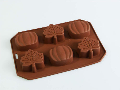 Autumn Leaves and Pumpkins Silicone Mould