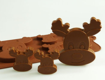 Rudolph Reindeer Silicone Mould