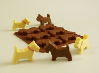 Scottie Dogs Silicone Mould