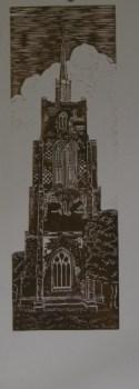 Ashwell Church lino print