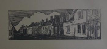 Much Hadham lino print 1
