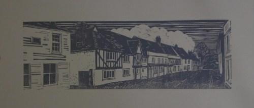Much Hadham lino print 2