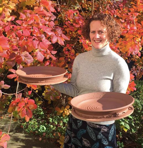 Helen with two large plates