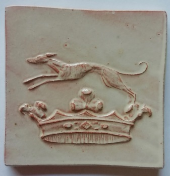 Greyhound crest tile