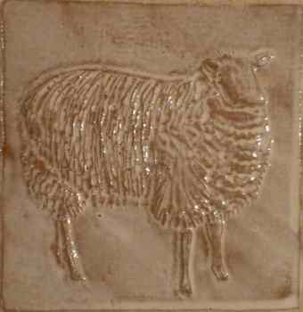 side facing sheep tile