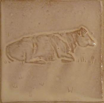 sitting cow tile