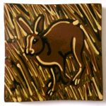 slip-trailed hare tile